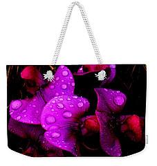 Raindrops On Sweet Peas Weekender Tote Bag