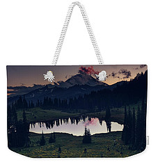 Weekender Tote Bag featuring the photograph Rainier Color by Gene Garnace