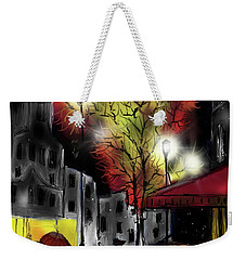 Weekender Tote Bag featuring the digital art Raining And Color by Darren Cannell