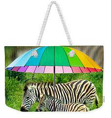 Raining Zebras Weekender Tote Bag
