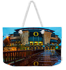 Rainy Autzen Stadium Weekender Tote Bag
