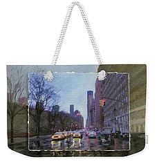 Rainy City Street Layered Weekender Tote Bag