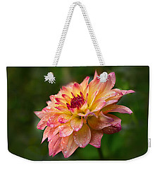 Rainy Dahlia Weekender Tote Bag by Mary Jo Allen