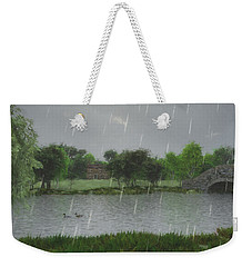 Rainy Day At The Lake Weekender Tote Bag