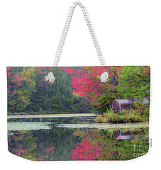 Weekender Tote Bag featuring the photograph Rainy Day Autumn by Alan L Graham