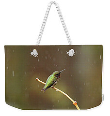 Rainy Day Hummingbird Weekender Tote Bag