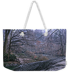 Rainy Day In Central Park Weekender Tote Bag by Sandy Moulder