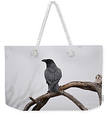 Rainy Day Raven Weekender Tote Bag