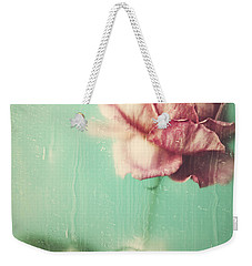 Weekender Tote Bag featuring the photograph Rainy Day Romance by Amy Weiss