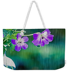 Weekender Tote Bag featuring the photograph Rainy Days And Mondays by Jan Bickerton