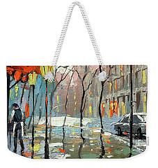 Rainy Landscape Weekender Tote Bag