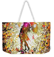 Weekender Tote Bag featuring the digital art Rainy Love by Darren Cannell