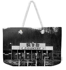 Rainy Morning At Rib Country In Black And White Weekender Tote Bag