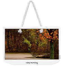 Rainy Morning Weekender Tote Bag