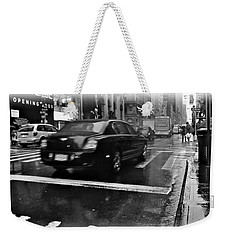 Rainy New York Day Weekender Tote Bag