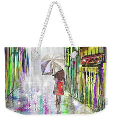 Rainy Paris Day Weekender Tote Bag