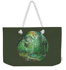 Weekender Tote Bag featuring the painting Rainy Woods by Mary Wolf