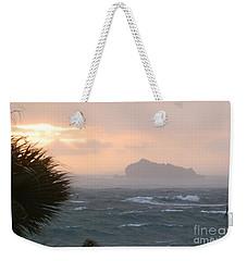 Rainy Xmas Sunrise Weekender Tote Bag