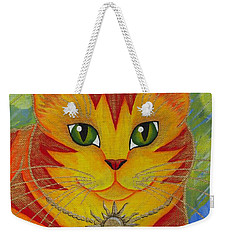 Rajah Golden Sun Cat Weekender Tote Bag
