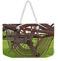 Weekender Tote Bag featuring the photograph Rake 3118 by Guy Whiteley