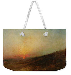 Weekender Tote Bag featuring the painting Ralph Albert Blakelock  1847  1919  Indian Encampment At Sunset by Artistic Panda