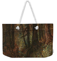 Weekender Tote Bag featuring the painting Ralph Albert Blakelock  1847  1919  Woodland Stream by Artistic Panda