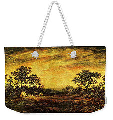Weekender Tote Bag featuring the painting Ralph Blakelock, Indian Encampment by Artistic Panda