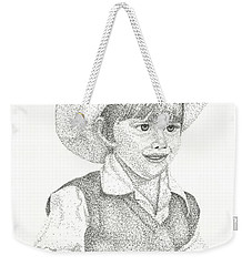 Weekender Tote Bag featuring the drawing Ranch Hand by Mayhem Mediums