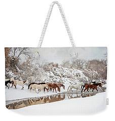 Ranch Horse Winter Weekender Tote Bag
