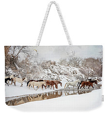 Ranch Horse Winter Weekender Tote Bag