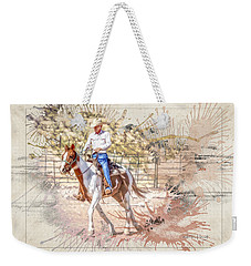 Ranch Rider Digital Art-b1 Weekender Tote Bag