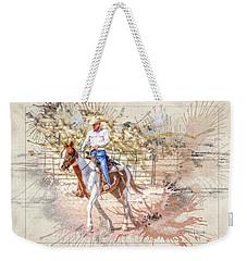 Ranch Rider Digital Art-b1 Weekender Tote Bag