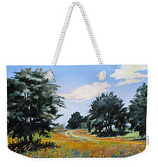 Ranch Road Near Bandera Texas Weekender Tote Bag