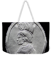 Randille Tribe Woman Relief Drawing Weekender Tote Bag by Suhas Tavkar