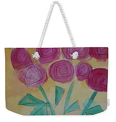 Weekender Tote Bag featuring the painting Randi's Roses by Kim Nelson