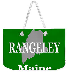 Weekender Tote Bag featuring the photograph Rangeley Maine State City And Town Pride  by Keith Webber Jr