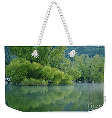 Weekender Tote Bag featuring the photograph Rankin Reflections 2 by Douglas Stucky