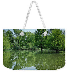 Weekender Tote Bag featuring the photograph Rankin Reflections 3 by Douglas Stucky