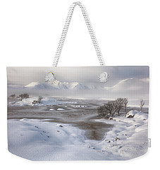 Weekender Tote Bag featuring the photograph  Rannoch Moor Winter by Grant Glendinning