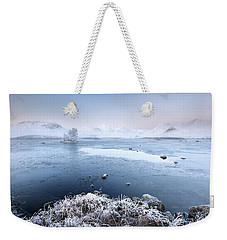 Weekender Tote Bag featuring the photograph Black Mount Misty Winter Sunrise by Grant Glendinning