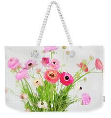 Ranunculus And Anemones Painterly Weekender Tote Bag