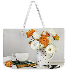 Weekender Tote Bag featuring the photograph Ranunculus Bouquet by Kim Hojnacki