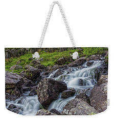 Rapids Of Snowdonia Weekender Tote Bag by Ian Mitchell