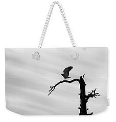 Raptor Silhouette Weekender Tote Bag