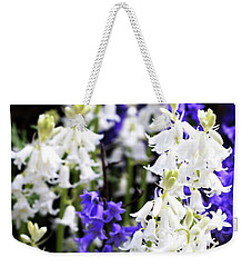 Weekender Tote Bag featuring the photograph Rare Bluebell Mix by Baggieoldboy