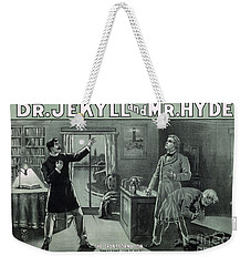 Rare Dr. Jekyll And Mr. Hyde Transformation Poster Weekender Tote Bag by Carsten Reisinger
