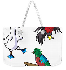 Rare Old Birds Weekender Tote Bag