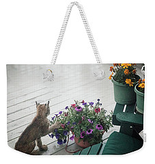 Swat The Petunias Weekender Tote Bag