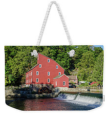Rariton River And The Red Mill - Clinton New Jersey Weekender Tote Bag by Bill Cannon