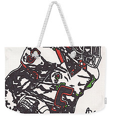 Weekender Tote Bag featuring the drawing Rashard Mendenhall 1 by Jeremiah Colley